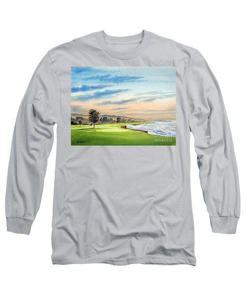 Pebble Beach Golf Course 18th Hole Long Sleeve T-Shirt by Bill Holkham
