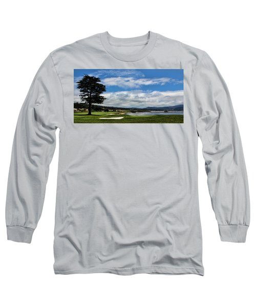 Pebble Beach - The 18th Hole Long Sleeve T-Shirt by Judy Vincent