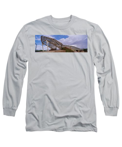 Pedestrian Bridge Over A River, Snake Long Sleeve T-Shirt by Panoramic Images