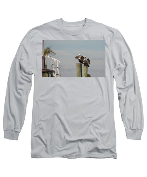 Long Sleeve T-Shirt featuring the photograph Pelican Buddies by John M Bailey