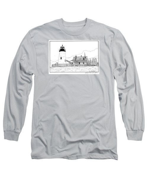 Pemaquid Point Lighthouse Long Sleeve T-Shirt by Ira Shander