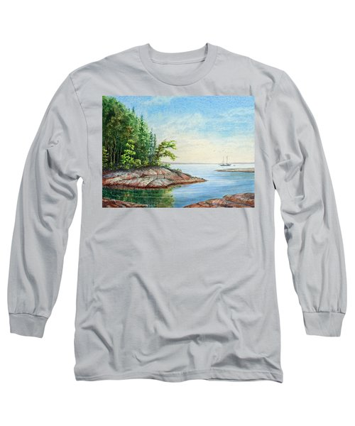 Penobscot Inlet Long Sleeve T-Shirt by Roger Rockefeller