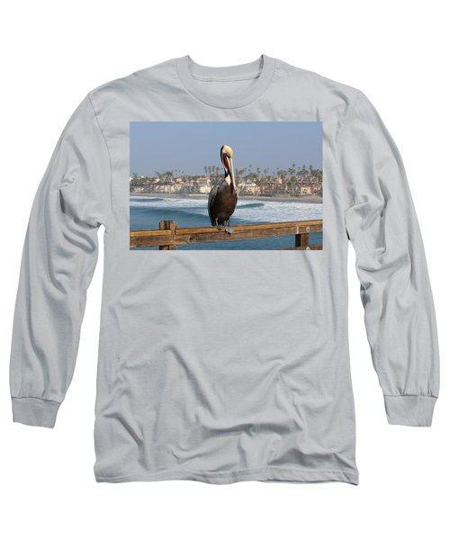 Perched On The Pier Long Sleeve T-Shirt