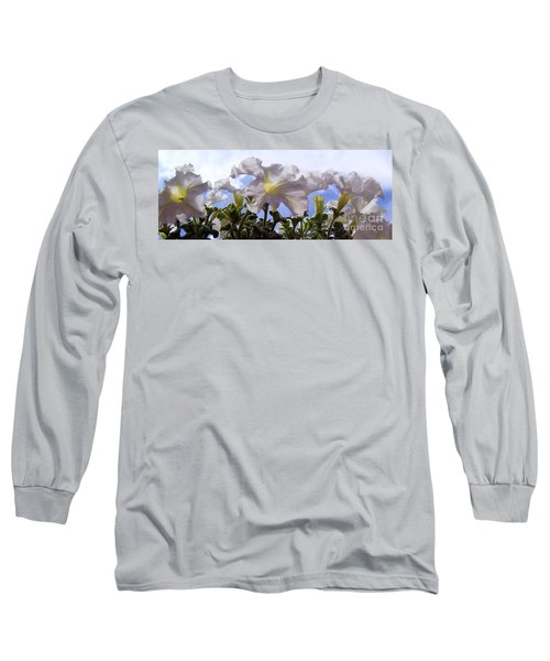 Long Sleeve T-Shirt featuring the photograph Petunia Sky by Janice Westerberg