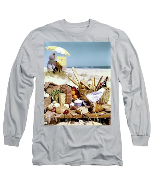 Picnic Display On The Beach Long Sleeve T-Shirt