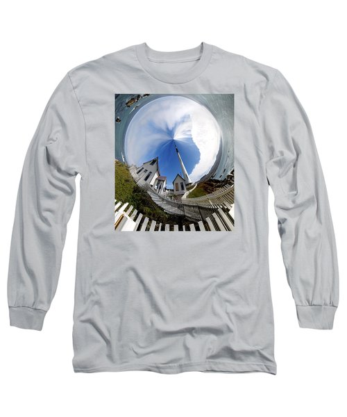 Pigeon Point Lighthouse Polar View Long Sleeve T-Shirt