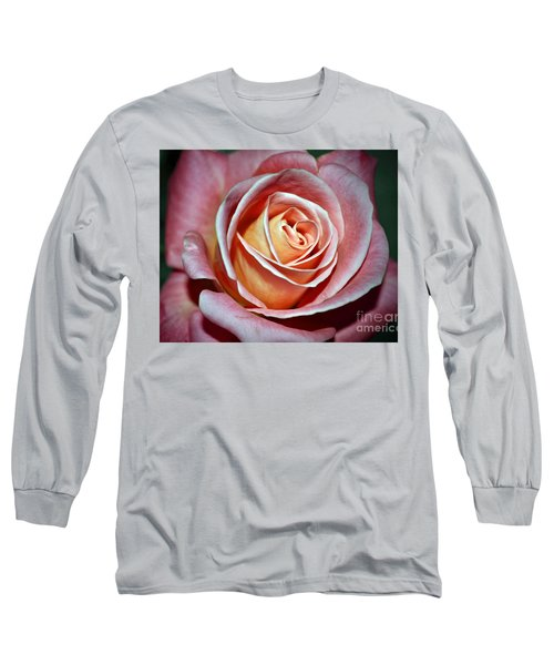 Long Sleeve T-Shirt featuring the photograph Pink Rose by Savannah Gibbs