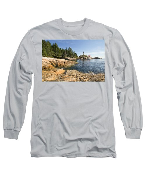Long Sleeve T-Shirt featuring the photograph Point Atkinson Lighthouse In Vancouver Bc by JPLDesigns