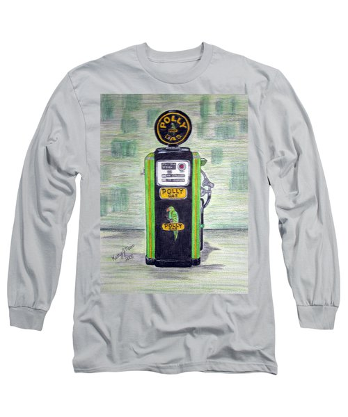 Polly Gas Pump Long Sleeve T-Shirt by Kathy Marrs Chandler