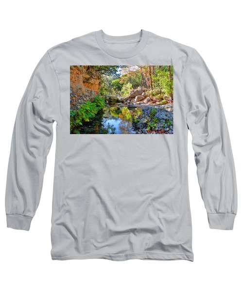 Pond At Lost Maples Long Sleeve T-Shirt