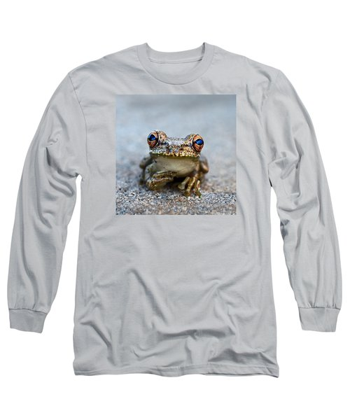 Pondering Frog Long Sleeve T-Shirt by Laura Fasulo