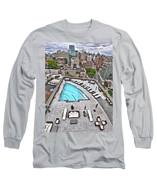 Pool With A View Long Sleeve T-Shirt by Steve Sahm