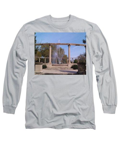 Popp Fountain New Orleans City Park Long Sleeve T-Shirt by Deborah Lacoste