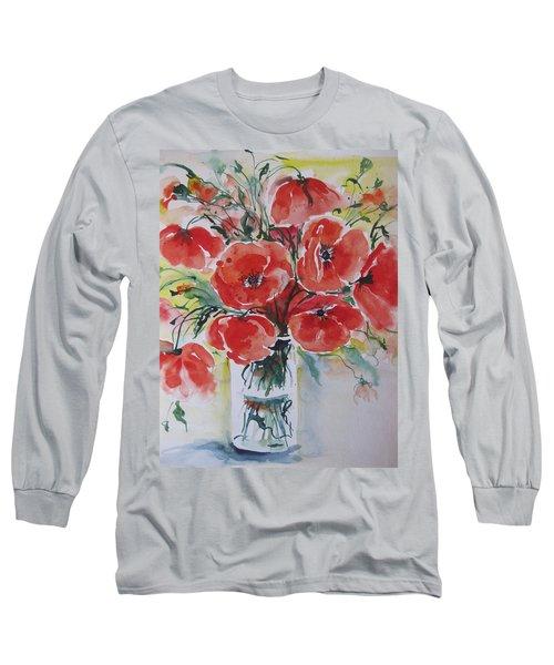 Poppies Iv Long Sleeve T-Shirt
