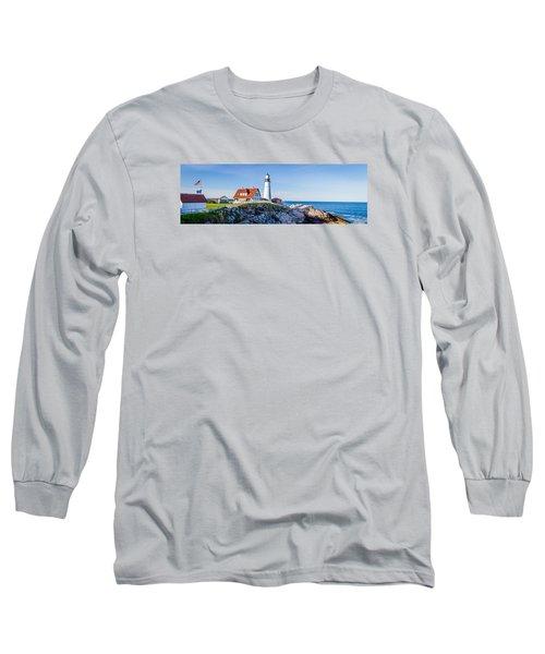 Portland Head Light House Cape Elizabeth Maine Long Sleeve T-Shirt