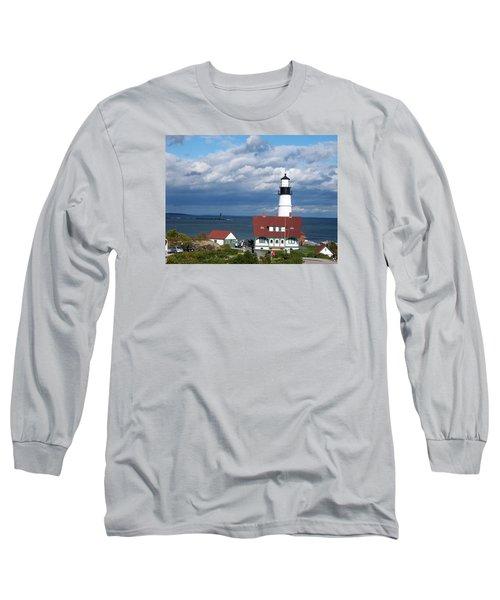 Portland Headlight Long Sleeve T-Shirt by Catherine Gagne