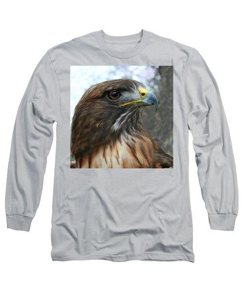 Portrait Of Red-shouldered Hawk Long Sleeve T-Shirt