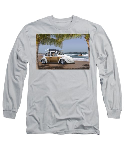Postcards From Otis - Beach Corgis Long Sleeve T-Shirt
