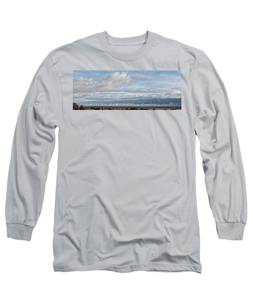 Long Sleeve T-Shirt featuring the photograph Power From The Wind In Western Skies by Michael Flood