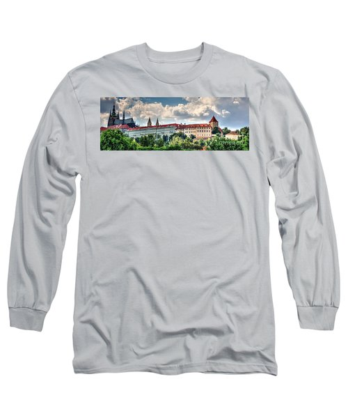Long Sleeve T-Shirt featuring the photograph Prague Castle by Joe  Ng