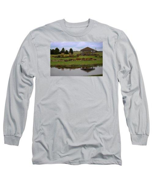 Long Sleeve T-Shirt featuring the photograph Prairie Arboretum  by Rebecca Davis
