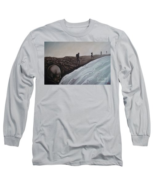 Long Sleeve T-Shirt featuring the painting Premonition by Michael  TMAD Finney