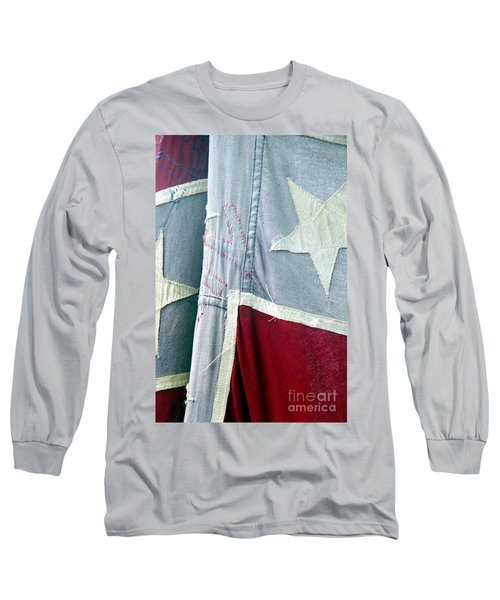 Primitive Flag Long Sleeve T-Shirt by Valerie Reeves