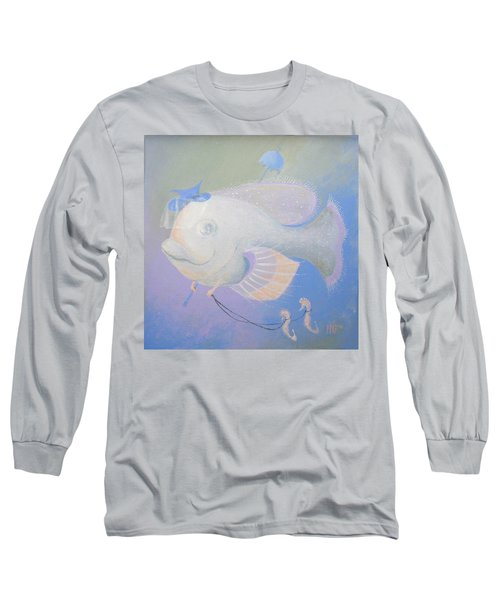 Long Sleeve T-Shirt featuring the painting Promenade by Marina Gnetetsky