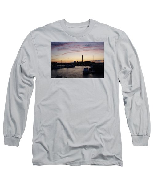 Provincetown Sunset Long Sleeve T-Shirt by Robert Nickologianis