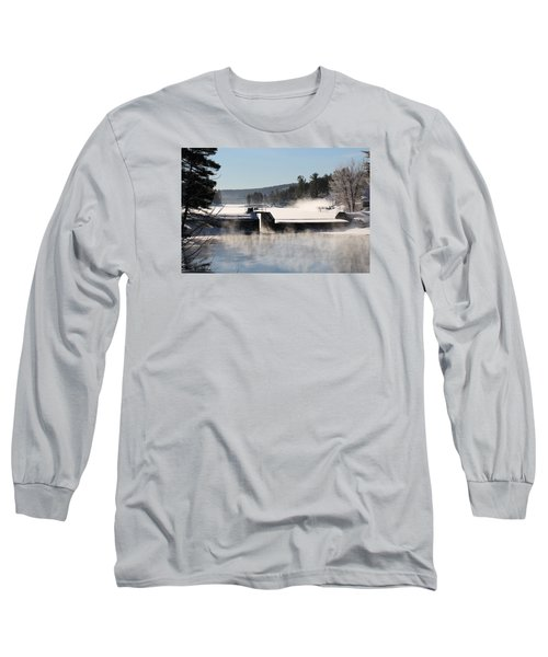 Winter  Pine River Pond  Long Sleeve T-Shirt