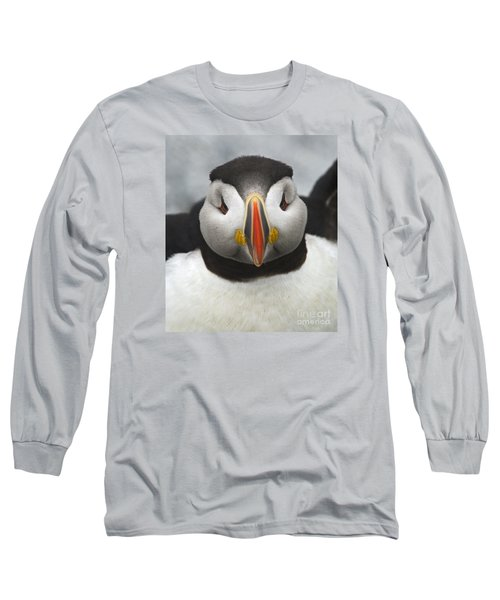 Puffin It Up... Long Sleeve T-Shirt by Nina Stavlund