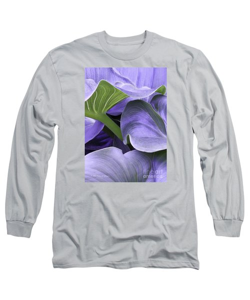 Purple Calla Lily Bush Long Sleeve T-Shirt