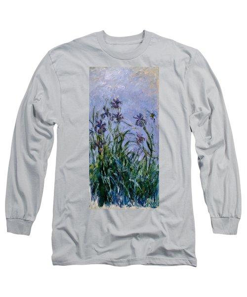 Purple Irises Long Sleeve T-Shirt