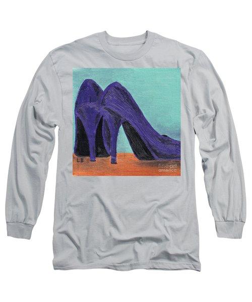 Purple Shoes Long Sleeve T-Shirt