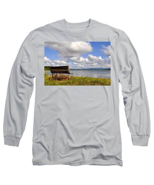 Long Sleeve T-Shirt featuring the photograph Quartz Lake by Cathy Mahnke