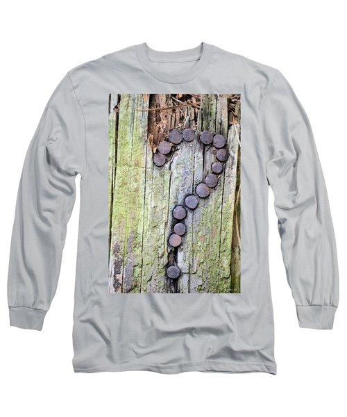 Questions  Long Sleeve T-Shirt by Maria Urso