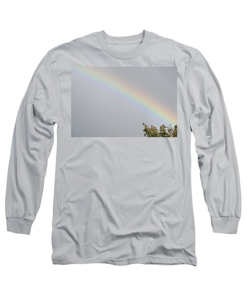 Rainbow After The Rain Long Sleeve T-Shirt by Barbara Griffin