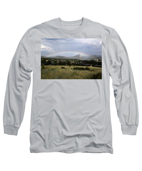 Rainbow Over Lake Estes Long Sleeve T-Shirt