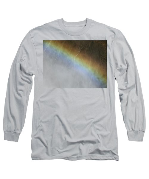 Rainbow Over The Falls Long Sleeve T-Shirt by Laurel Powell
