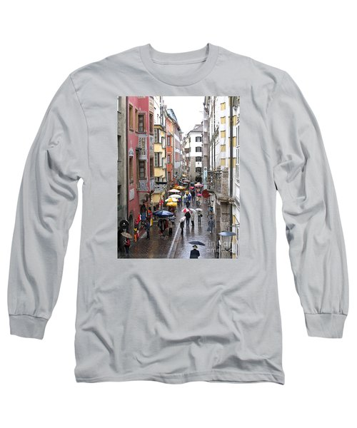 Long Sleeve T-Shirt featuring the photograph Rainy Day Shopping by Ann Horn