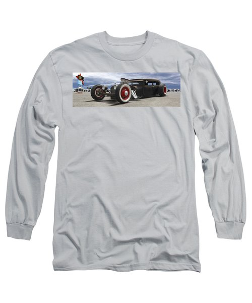 Rat Rod On Route 66 Panoramic Long Sleeve T-Shirt