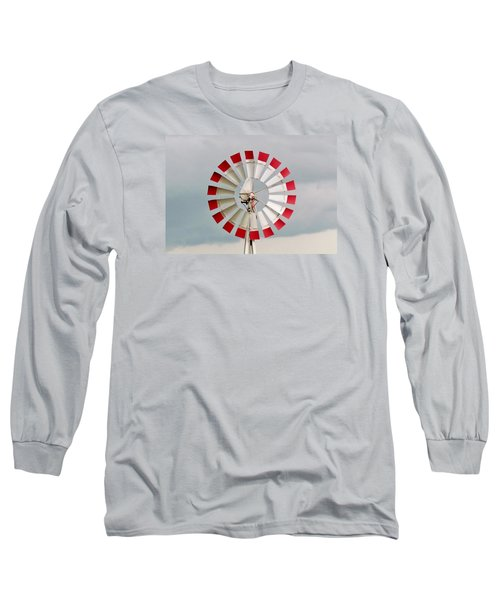 Long Sleeve T-Shirt featuring the photograph Red And White Windmill by Cynthia Guinn