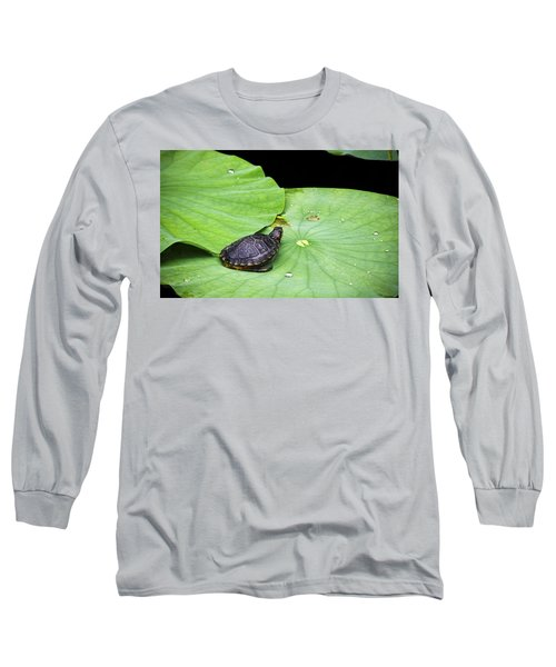 Red-eared Slider Long Sleeve T-Shirt by Greg Reed