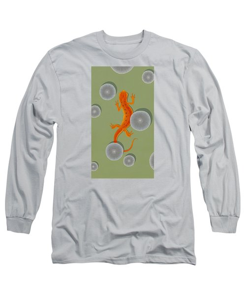 Red Eft Newt Long Sleeve T-Shirt by Nathan Marcy