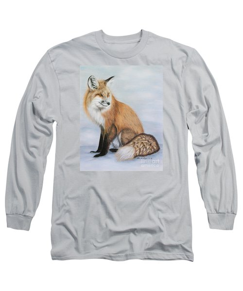 Red Fox Long Sleeve T-Shirt by Lena Auxier