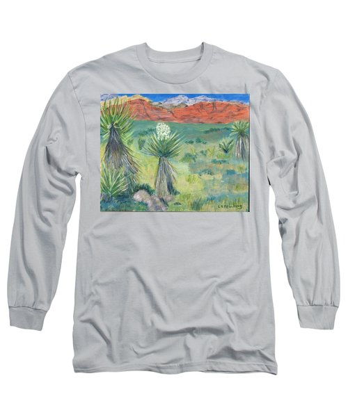 Red Rock Canyon With Yucca Long Sleeve T-Shirt