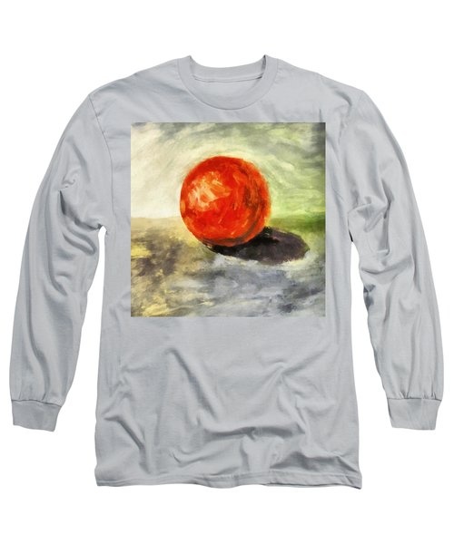 Red Sphere With Grey Long Sleeve T-Shirt