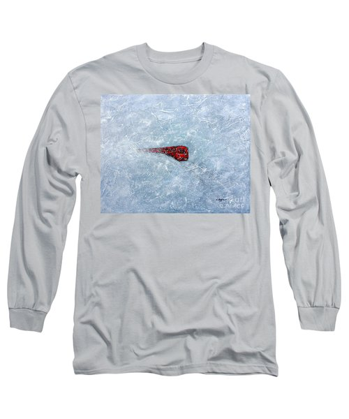 Red Train Braving The Winter Long Sleeve T-Shirt