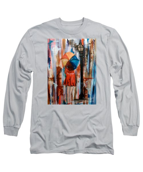Long Sleeve T-Shirt featuring the painting Reflections  by Lori  Lovetere