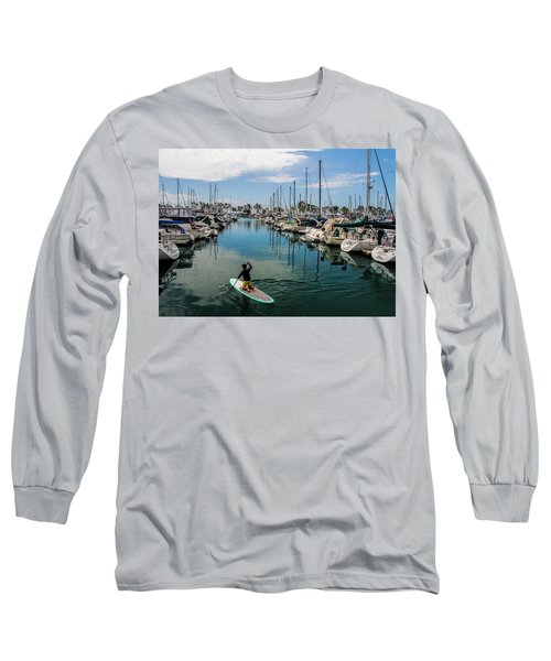 Relaxing Day Long Sleeve T-Shirt by Tammy Espino